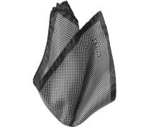 Accessoires Einstecktuch Seide schwarz-weiß gepunktet