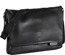 Herren Tasche strellson Messenger Bag Leder schwarz