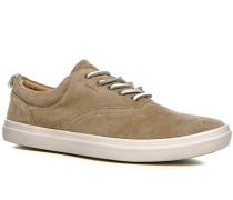 Herren Schuhe Sneaker Veloursleder beige beige,beige