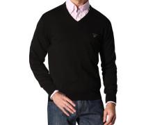 Herren Pullover Pulli Baumwolle schwarz
