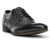 Herren Schnürschuhe Leder schwarz