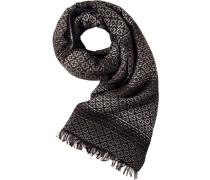 Herren  Schal Woll-Mix grau-schwarz gemustert