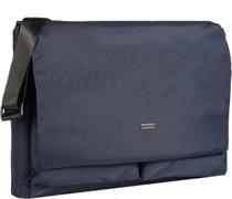 Tasche Messenger Bag Microfaser saphirblau