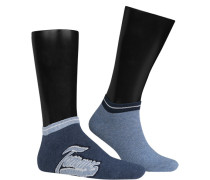 Sneakersocken Baumwolle jeansblau