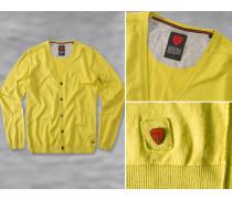 Herren strellson Sportswear Cardigan Mignon Baumwolle gelb