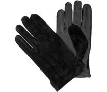 Herren  Handschuhe Veloursleder schwarz