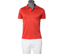 Polo-Shirt Polo Baumwoll-Jersey leuchtorange
