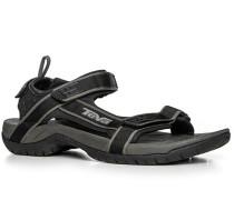 Herren Schuhe Sandalen Nylon schwarz schwarz,schwarz
