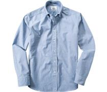 Hemd Regular Fit Baumwolle -weiß meliert