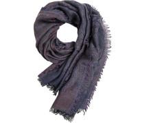 Schal Wolle blau-