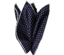 Accessoires Einstecktuch Seide nachtblau gemustert