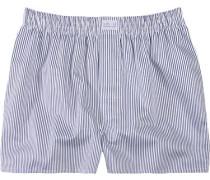 Herren Unterwäsche Boxer-Shorts Popeline marine-weiß gestreift blau