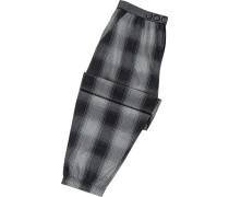 Schlafanzug Pyjamahose, Baumwolle, -schwarz kariert