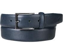 Herren Gürtel navy Breite ca. 3,5 cm blau