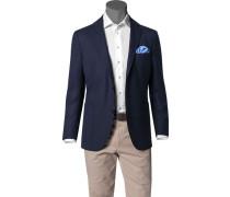 Sakko Comfort Fit Schurwolle Super100 dunkelblau