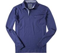 Herren Polo-Shirt Polo Baumwoll-Jersey tinte blau