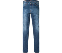 Jeans Straight Fit Baumwolle jeansblau
