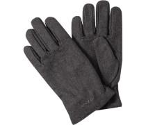 Handschuhe Wolle anthrazit meliert