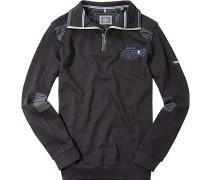 Herren Pullover Sweat-Troyer Baumwolle marine blau