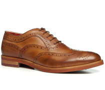 Herren Schuhe Oxford Leder cuoio beige,rot