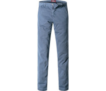 Chino Extra Slim Fit Baumwolle jeansblau