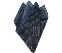 Accessoires Einstecktuch Wolle navy gepunktet