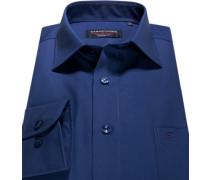 Hemd Modern Fit Popeline tintenblau
