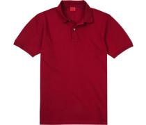 Polo-Shirt Polo Body Fit Baumwoll-Piqué dunkelrot