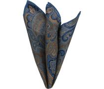 Accessoires Einstecktuch Wolle blau gemustert