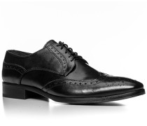 Herren Schuhe Budapester Leder schwarz schwarz,schwarz