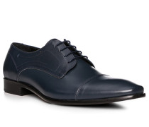 Schuhe Oxford, Leder, blue scuro