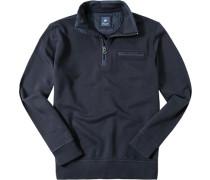 Herren Pullover Troyer Baumwolle nachtblau