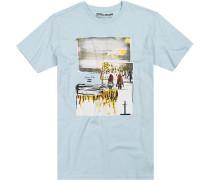 T-Shirt Tailored Fit Baumwolle hellblau