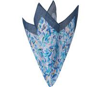 Accessoires Einstecktuch Leinen blau gemustert