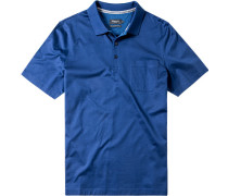 Polo-Shirt Polo Baumwolle mercerisiert royal