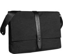 Herren Tasche  Messenger Bag Baumwoll-Mix schwarz