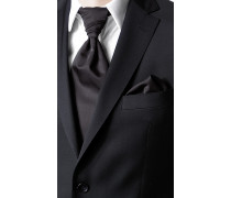 Herren Accessoires Plastron und Einstecktuch Woll-Mix schwarz
