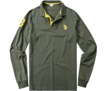 Polo-Shirt Polo, Baumwoll-Jersey, olivgrün