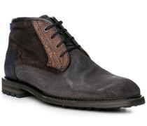Schuhe Schnürstiefeletten Veloursleder blau
