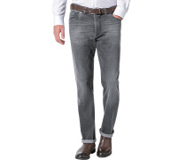 Herren Blue-Jeans Regular Fit Baumwoll-Stretch anthrazit grau