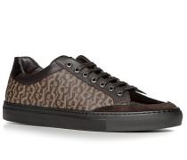 Herren Schuhe Sneaker Leder-Mix braun braun,beige
