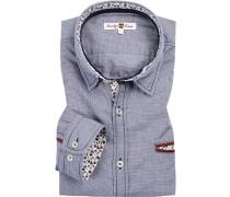 Hemd, Pepita, -weiß gemustert