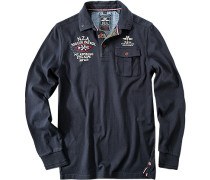 Rugbyshirt Baumwolle marineblau