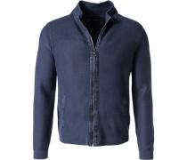 Cardigan Modern Fit Baumwolle dunkelblau
