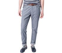 Herren Jeans Regular Fit Baumwoll-Stretch dunkelgrau gestreift