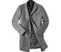 Mantel Schurwolle gemustert