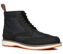 Schuhe Stiefeletten, Microfaser-Nubukleder wasserabweisend, dunkelblau