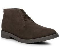 Schuhe Desert-Boots Veloursleder dunkelbraun
