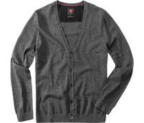 Herren strellson Sportswear Cardigan Harper-C Baumwoll-Mix anthrazit grau