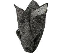 Herren Accessoires  Einstecktuch Seide schwarz-weiß gemustert
